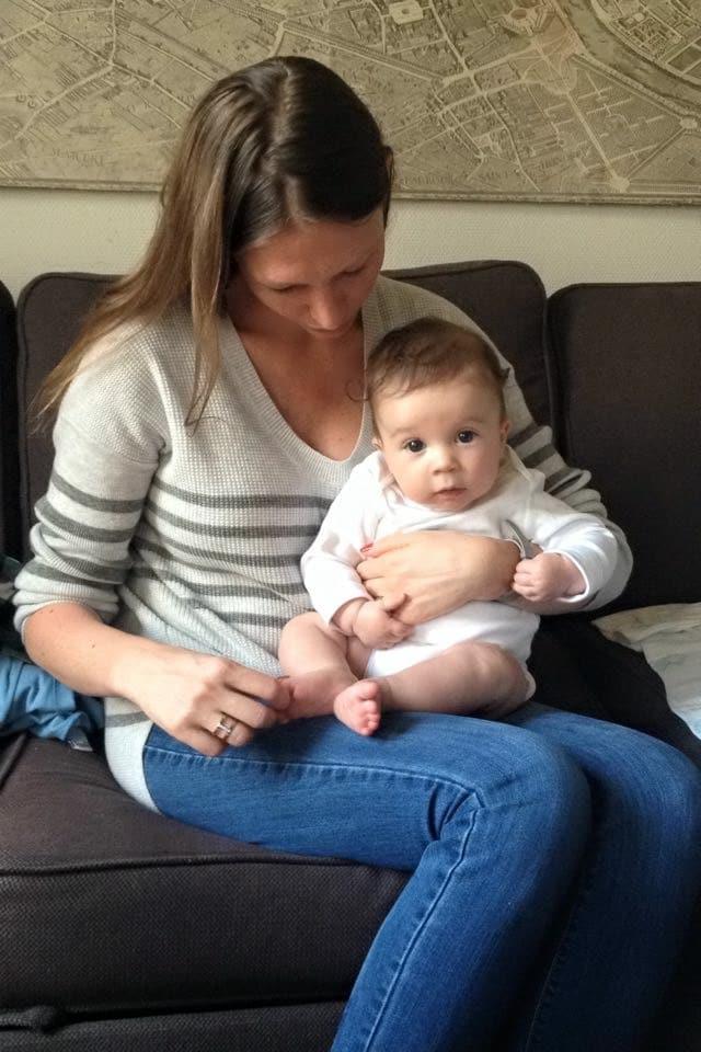 Julie com o filho Georges - timirim