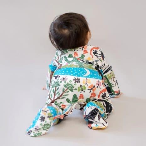 Pijama de algodão pima orgânico estampa Paisagem