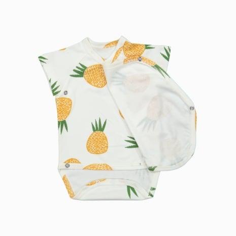 body kimono manga curta em algodão pima orgânico
