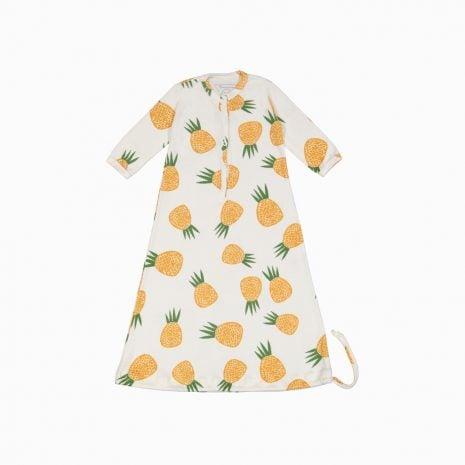 Pijama Troca Facil de algodão pima orgânico estampa abacaxi