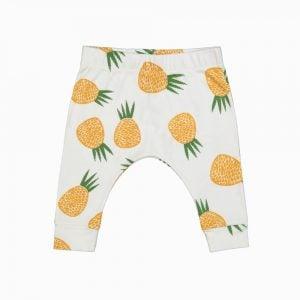 Calça Saruel em algodão pima orgânico estampa abacaxis