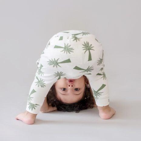 Calça saruel em algodão pima orgânico estampa palmeira