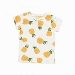 camiseta manga curta abacaxi