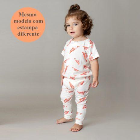 Camiseta manga curta em algodão pima orgânico