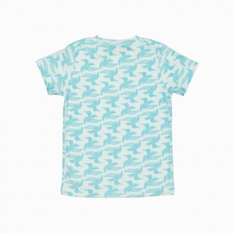 Camiseta de algodão pima orgânico estampa passaros