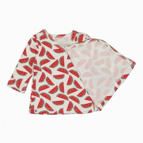 Cardigan Kimono em algodão pima orgânico estampa aberto