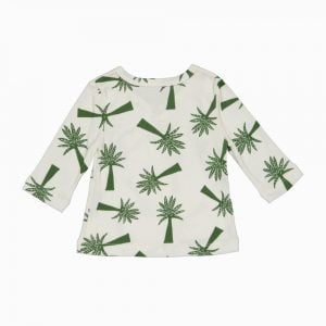 Cardigan Kimono em algodão pima orgânico estampa palmeiras