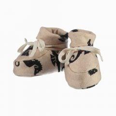 Sapatinho de bebê em algodão pima orgânico estampa cavalos marinhos