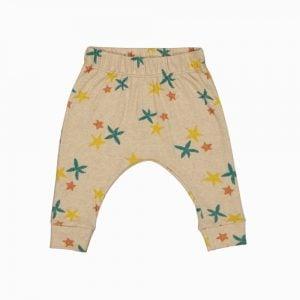 Calça saruel em algodão pima orgânico estampa estrela do mar