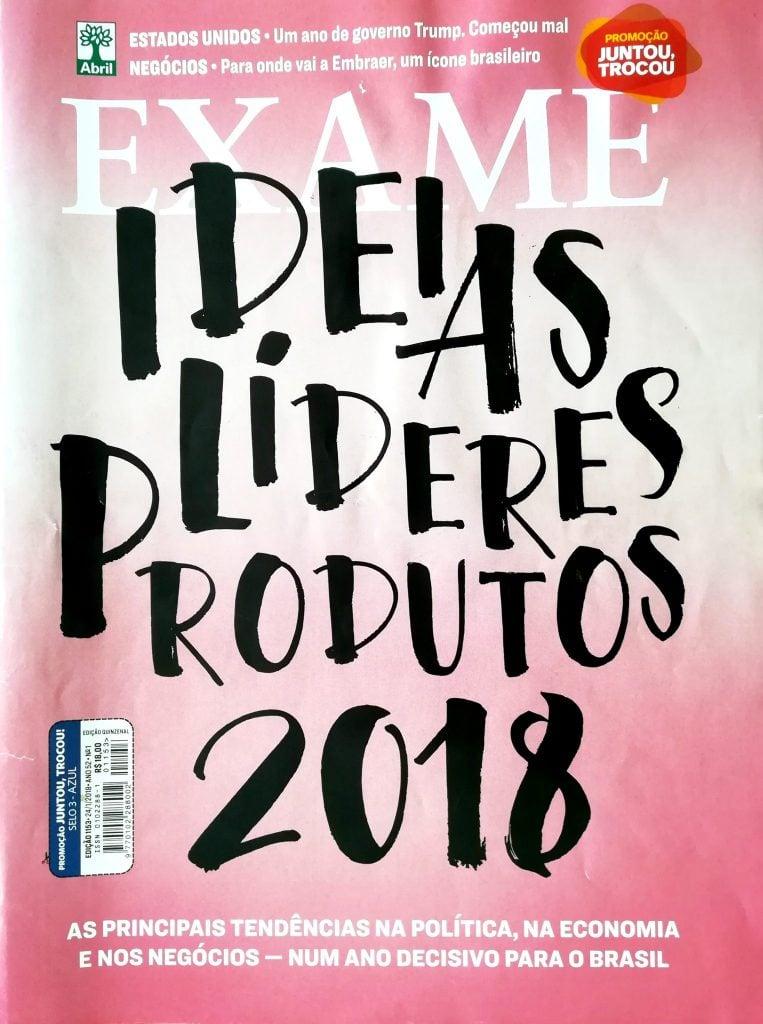 Exame edição de janeiro 2018 (capa)
