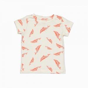 Camiseta de algodão pima orgânico estampa golfinhos