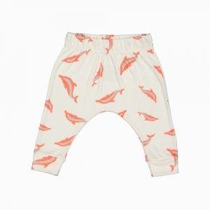 Calça saruel em algodão pima orgânico estampa golfinhos