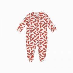 Macacão pijama em algodão pima orgânico estampa melancias