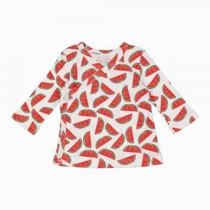 Cardigan Kimono em algodão pima orgânico estampa melancias