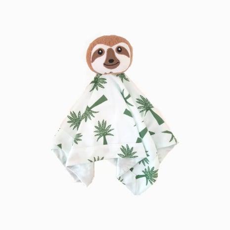 Naninha em algodão pima orgânico com estampa palmeiras