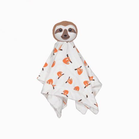 Naninha em algodão pima orgânico com estampa preguiças