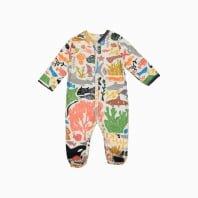 Macacão pijama em algodão pima orgânico estampa oceano