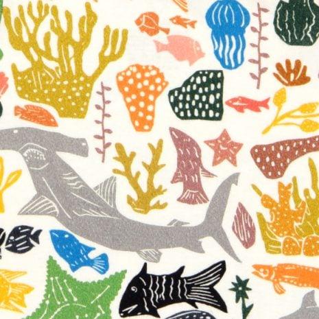 estampa oceano por J. Borges