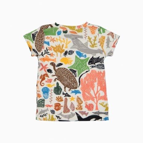 Camiseta de algodão pima orgânico estampa oceano