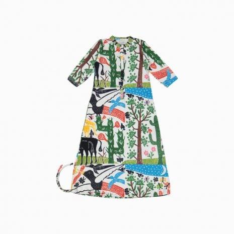 Pijama Troca Facil de algodão pima orgânico estampa paisagem do sertão