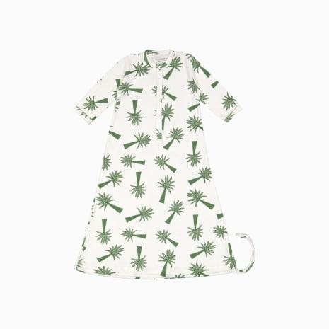 Pijama Troca Facil de algodão pima orgânico estampa palmeiras