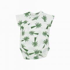 body kimono manga curta em algodão pima orgânico estampa palmeiras