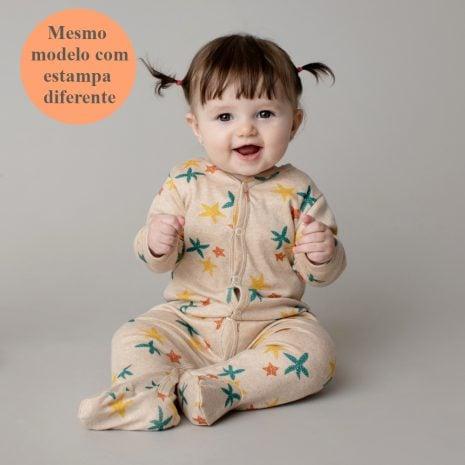 Macacão pijama em algodão pima orgânico