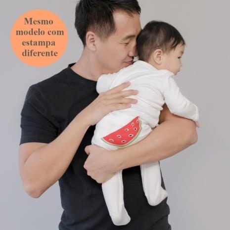 Macacão pijama em algodão pima orgânico serigrafia