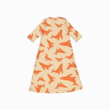 pijama troca facil de algodão pima orgânico estampa baleias vermelhas