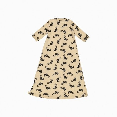 pijama troca facil de algodão pima orgânico estampa cavalos marinhos costas