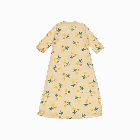 pijama troca facil de algodão pima orgânico estampa estrela do mar costas