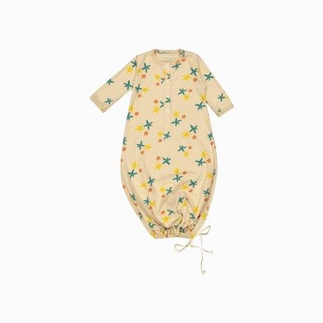 pijama troca facil de algodão pima orgânico estampa estrela do mar