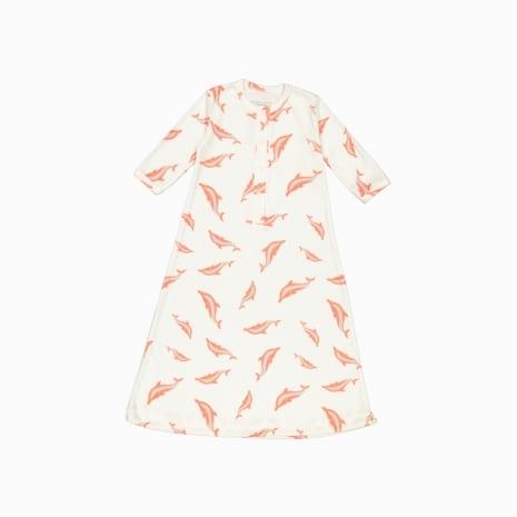 pijama troca facil de algodão pima orgânico estampa golfinhos
