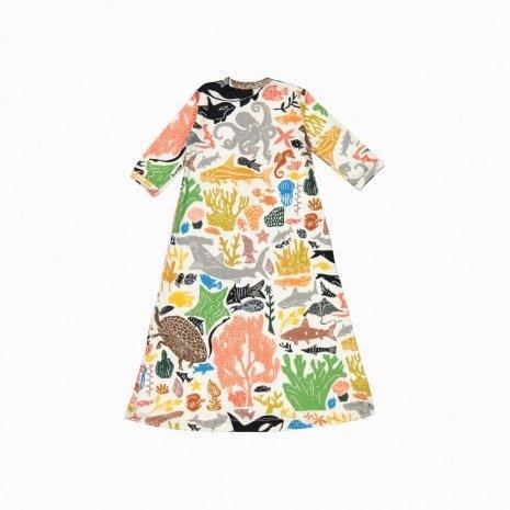 pijama troca facil de algodão pima orgânico estampa oceano costas