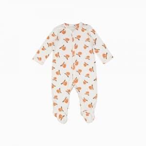 Macacão pijama em algodão pima orgânico estampa preguiças