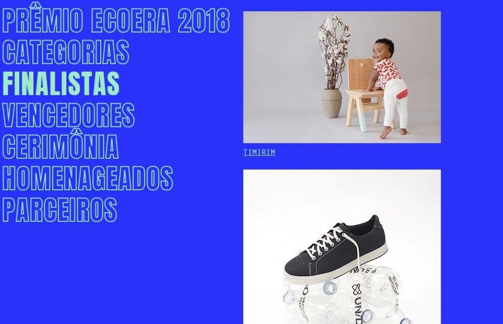Prêmio ECOERA, novembro 2018 (finalistas)