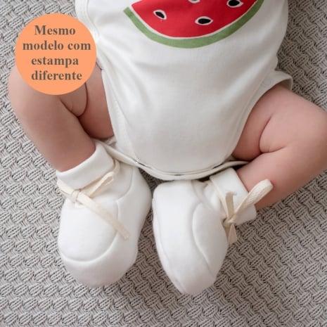 Sapatinhos de bebê de algodão pima orgânico