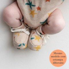 Sapatinho de bebê em algodão pima orgânico