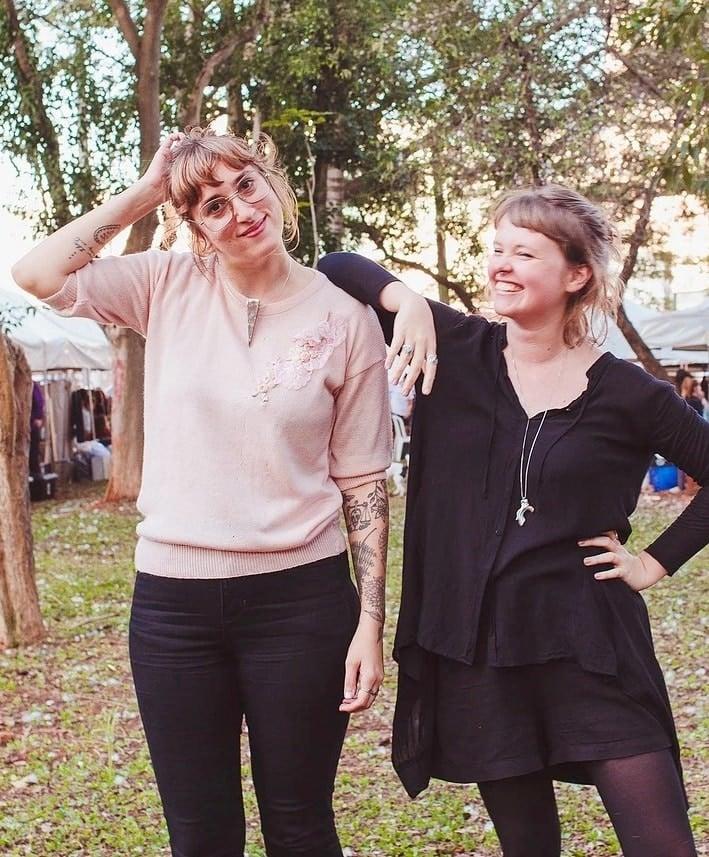 Claudia e Gladys feira Jardim Secreto foto blog Timirim Mulheres