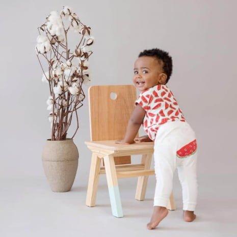 Calça saruel melancia bumbum vestida bebe Timirim algodao pima organico