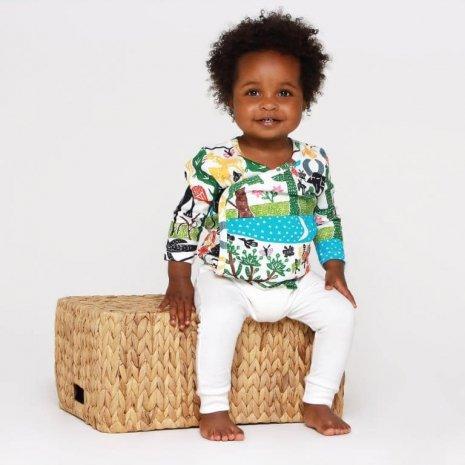 Cardigan Paisagem vestido bebe Timirim algodao pima organico