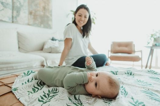 Ligia, uma gravidez serena e intima