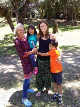 Mathilde, partos naturais com a mãe e a sogra