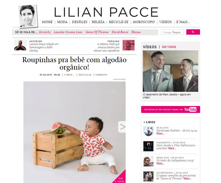 Lilian Pacce Timirim algodao organico marca de bebeabril 2019