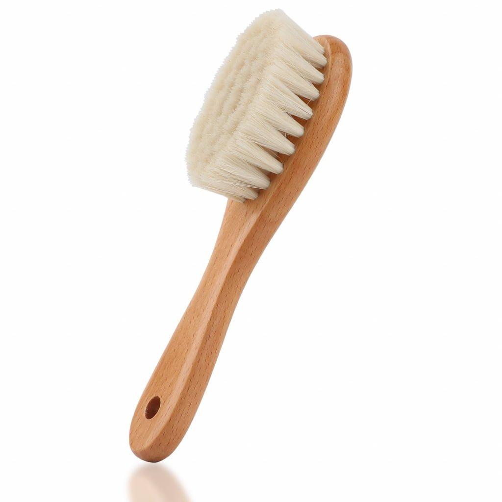 Escova cabelo de cerdas naturais bebê - mala de maternidade
