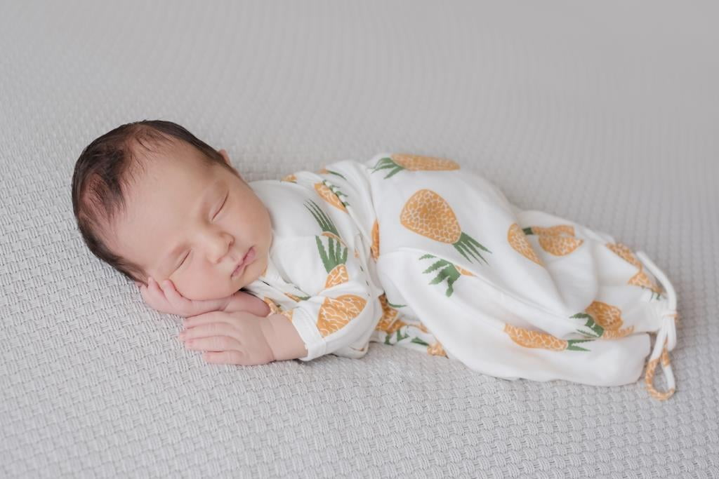 Pijama troca facil abacaxis algodao pima orgânico da Timirim