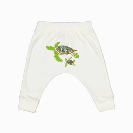 Calça Saruel Serigrafia Tartarugas algodão organico pima