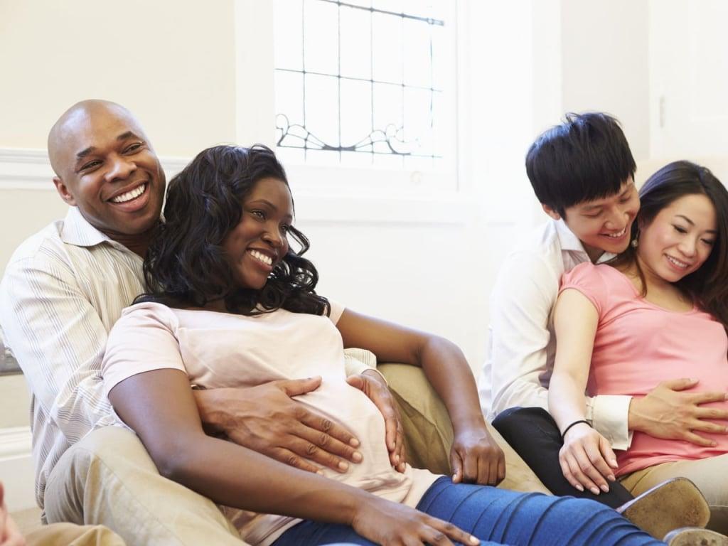 Pais mães e casais na preparação ao parto