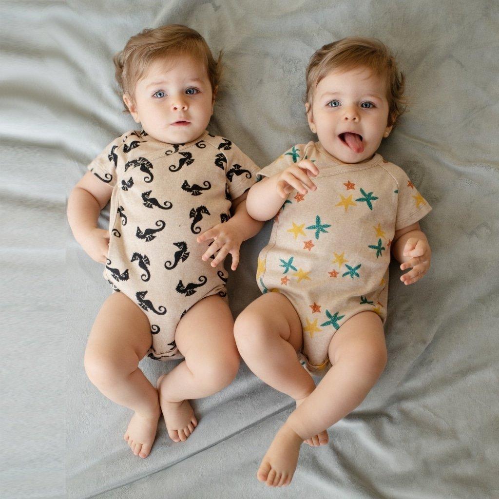 Gêmeas de body kimono Timirim Coleção 2019 algodão orgânico
