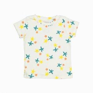 Camiseta Manga Curta Trio de Estrelas Algodão Organico